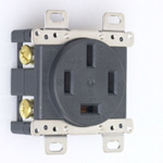 Flush Mount Outlet - Flat-Blade