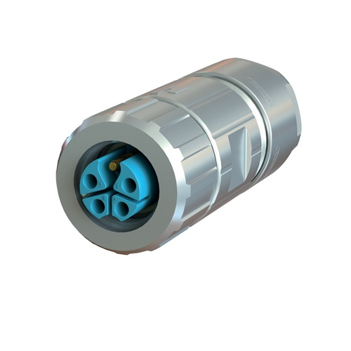 Straight Female Power Connector - M12 (SEALCON)