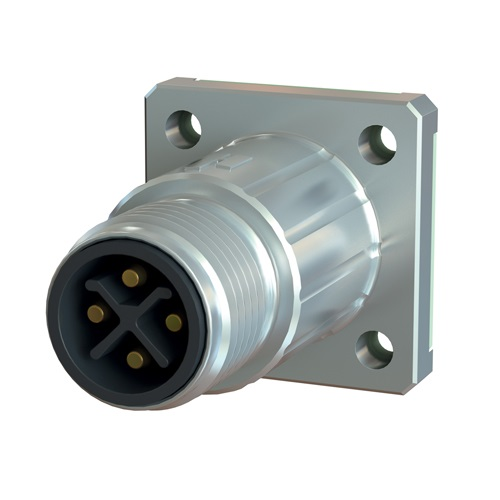 Power Panel Connector - Male Thread, M12 (SEALCON)