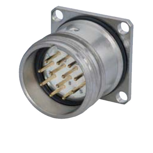 Signal Panel Connector with Knurled Nut - Female Thread, Without Coding Option, M23 (SEALCON)