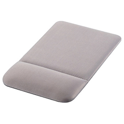 Mouse Pad / With Wrist Rest / Cushioned / Gray (ELECOM)