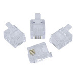 RJ11 connector  6-pin 2/4 modular plug
