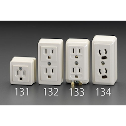 Square Grounded Electrical Socket Outlet