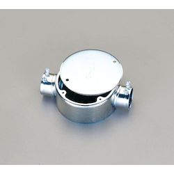 Round Exposed Box (Straight 2-Side Outlets) EA940CS-24