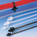This offset Insulok push-mounting tie includes wings and is available in heat resistant and weatherproof grades.