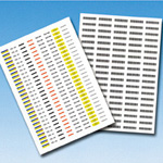 Tab Tag Label, Tag Labels for Laser Printers (made of Polyester Film) (Hellermann Tyton)