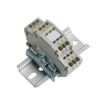 Clutch Lock Terminal Block, Compact Series (Rail), Standard (2-Stage)