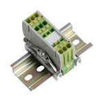Clutch Lock Terminal Block, Compact Series (Rail), Ground Dedicated