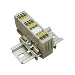 Clutch Lock Terminal Block, Compact Series (Rail), Includes Insertion Display Function