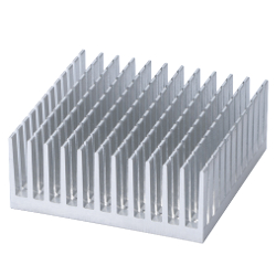 Heatsink for Surface Mounting Device SQ Series Aluminum Extrusion/Slit Fin Type