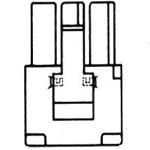4.80 mm Pitch Minifit Relay Terminal Housing (5025, Receptacle)
