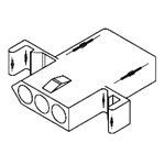 "Standard .093"" Receptacle Housing(1396)"
