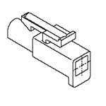 "Standard .093"" Receptacle Housing (3191NR1)"