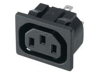IEC Standard Outlet - Snap-In, C13 (MISUMI)