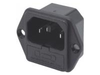 C14 Inlet with FUse Holder - IEC Standard, Screw Mounted (MISUMI)