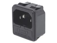C14 Inlet with FUse Holder - IEC Standard, Snap-In (MISUMI)