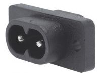 C8 Inlet - IEC Standard, Screw Mounted (MISUMI)