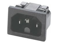 Panel Mount Socket Clip Fastening Socket - C16 Male (MISUMI)
