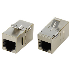 Cat6A/Cat6 STP Panel Mounting Straight Type