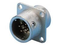 Flanged Panel Mount Receptacle - One-Touch Lock, PRC03 Series (MISUMI)