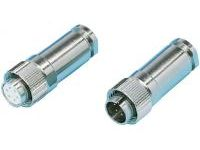 Straight Plug Connector - Waterproof, R04 Series (MISUMI)