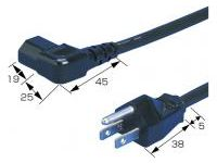AC Cord, Fixed Length (UL/CSA), Double-Ended