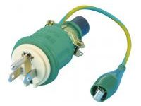 Extension Cord Parts, 2-Prong to 2-Prong + Ground Dual Plug