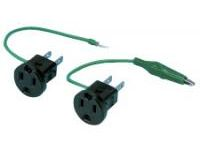 Adapter - Grounded 2 Prong with Alligator Clip (MISUMI)