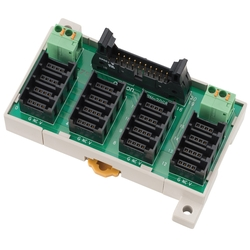 Connector Terminal Block Conversion Unit Terminal block with Common (e-CON type) for 16 items XW2N