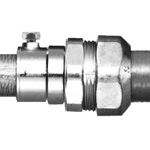 Waterproof combination coupling (waterproof pre-coupling + screwless steel wire conduit) (Sankei Manufacturing)