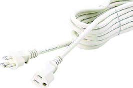 1:1 Extension Cord, 3P, Ivory