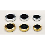 Screw-retained Rubber Feet with Aluminum Cover, TC series