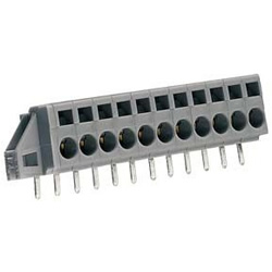 Feed through Terminal Block with Securing Flanges for Printed Circuit Boards, 231 Series, 5 & 5.08 mm Pitch