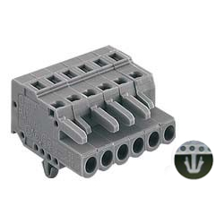 Spring Type Connector, 231 Series, 5 mm Pitch, Female (Fixed Hole Embedded)