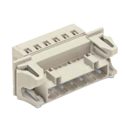 Spring Type Connector, Mismatch Prevention Type, 721 Series, 5 mm Pitch, Male with Panel Pass-Through Fixing Flange