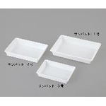 Plastic Tray Sanbatto #1-#3 White