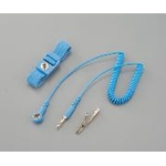 Wrist Strap with Cord, Band Material: Rubber (with Conductive Fibers)