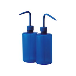 Color Identification Narrow-Mouth Washing Bottle (Azlon) Blue