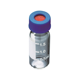 Low Elution Wide-Mouthed Screw Cap Vial Vial Bottle + Blue Cap with Septum