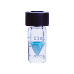 Mini Vial Open Top Cap 0.3mL Scale Yes