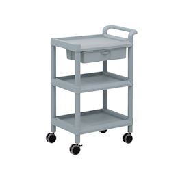 Mobile Storage Cart 3 Sages 598 x 368 x 875 (Including Drawer, Handle)