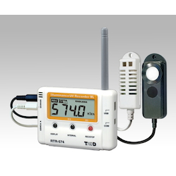 ONDOTORI Series Wireless Data Logger (Cordless Handset) Temperature, Humidity, And Illuminance, UV x 1ch Each 78 x 18 x 55mm