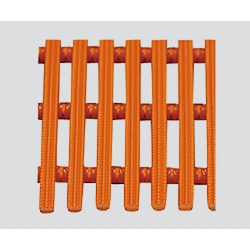 Chemical-Resistant Duckboard Mat Hard Orange