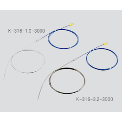 K Sheath Thermocouple (Stainless Steel (SUS316)) 650℃ φ1.6 x 3000mm