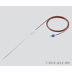 T Sheath Thermocouple (Stainless Steel (SUS316)) φ3.2 x 300mm