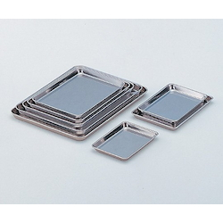 "Square Stainless Steel Tray 21"" 537 x 396 x 22mm"