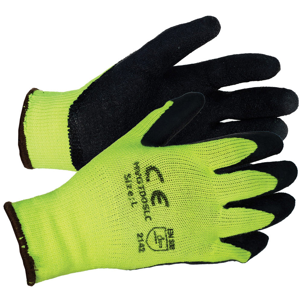 Latex Coated String - Crinkle Finish Gloves