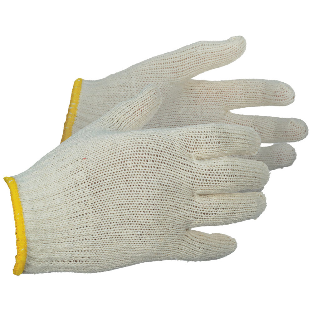 Economy Knit String Gloves, Natural Color
