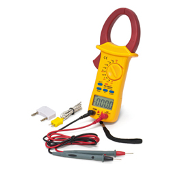 Digital Clamp Tester for Measurement of Voltage, Current and Resistance