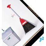 Broom/Dustpan Large Type Red